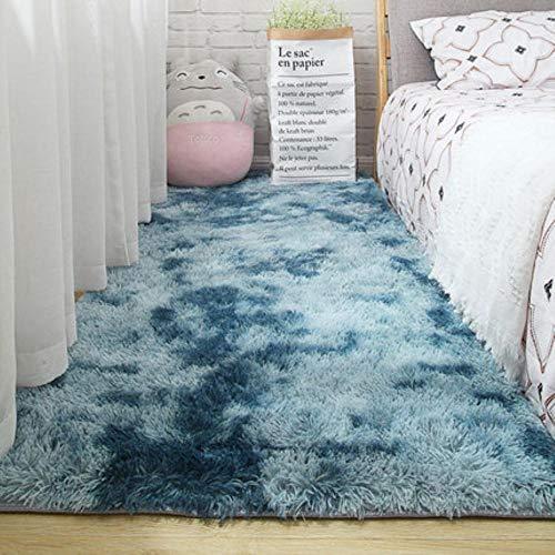 Woonkamer tapijt slaapkamer bed mat eenvoudig modern grijs huishouden vloerkleed zachte huidvriendelijke multi-zone gebruik deken, 6.200 cm x 200 cm