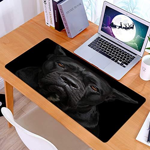 Alfombrilla Ratón Grande Gaming Mouse Closeup Retrato de Hermosa caña Negra Corso...