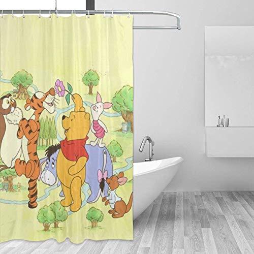 shenguang Badezimmer Duschvorhang Winnie The Pooh Home Decor Duschvorhänge mit Haken 60 'X 72'