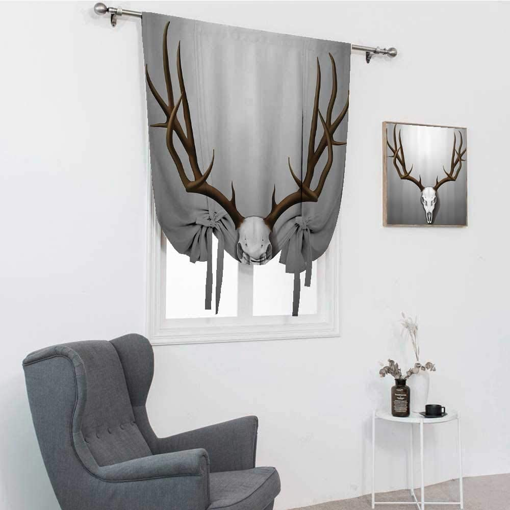 Antler Decor Kitchen Window wholesale Discount is also underway Curtains Realistic Deer Skull with