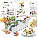 MealKitt Parte de recipiente de control   Aprender acerca de la nutrición, la porción de control y de comidas de preparación   Caloría cuenta para usted   Receta de bolsillo Guía de la dieta + libro