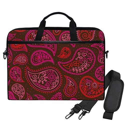Emoya Laptoptasche mit Paisleymuster, für Laptops mit einer Bildschirmdiagonale von 13,3-14 Zoll, Pink