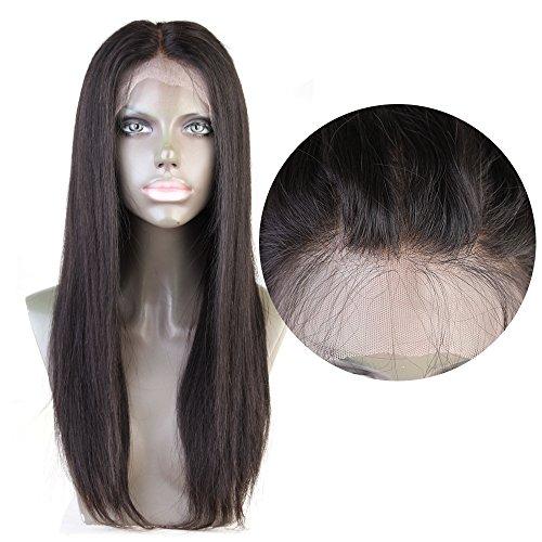 Cbwigs Glueless 360 Dentelle Perruque Frontale Fit Haute Queue De Cheval Perruques de cheveux humains 100% brésilienne Virgin Remy (20 inch 190% densi