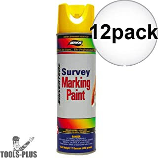 Aervoe 207 White Survey Marking Paint - 20-oz Cans (17-oz net weight) - 12 Can Case