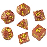 Caramel and Yellow Classic Dice Set by Q-Workshop