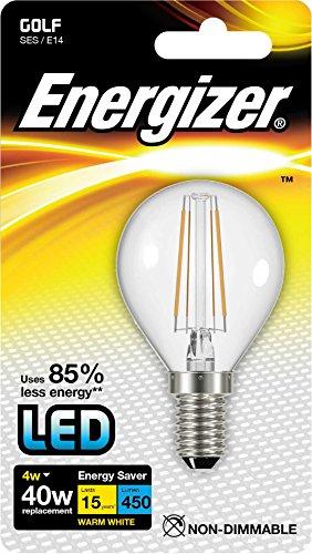Energizer - Lampadina LED tradizionale a risparmio energetico, E14, 4 W, colore: Bianco caldo
