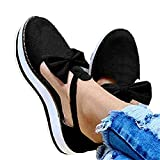 Aniywn Espadrille Platform Sandals, Women's Ankle Straps Wedges Sandals Casual Summer Closed Toe Sandals Black