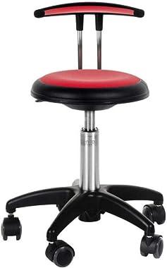 Rolla | Chaise à Roulette réglage en Hauteur | Respirante & Lavable | Design Scandinave | Rouge 30-38 cm |