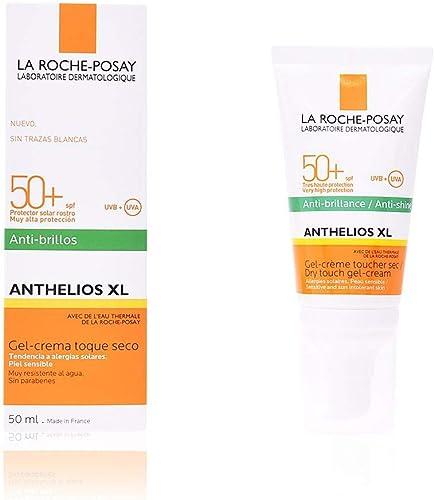 La Roche Posay Anthelios Toque Seco FPS 50+ Protector Solar Facial para Piel Grasa, 50 ml