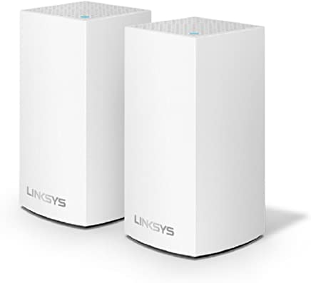 $172 Get Linksys Velop Home Mesh WiFi System – WiFi Router/WiFi Extender for Whole-Home Mesh Network (2-pack, White)
