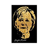 Celebrity Angela Merkel signiertes Bild, Wandkunst,