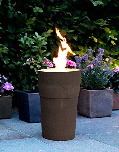 Flammentopf Siena Lava, Bio-Ethanol Feuerstelle aus Impruneta Terrakotta