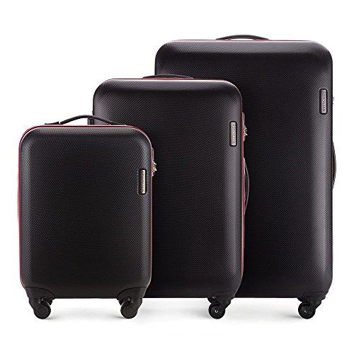 WITTCHEN Koffer – Handgepäck | hartschalen, Material: ABS | hochwertiger und Stabiler | Schwarz | 27 L | 55x36x20 cm