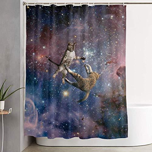 Cortina de Ducha N/A Galaxy Stars Space Wars con Ganchos de poliéster Resistente e Impermeable, 152 cm de Ancho x 183 cm de Alto