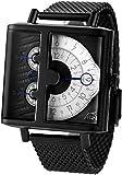 Xeric メンズ ソロスコープ SQ 片手 SSQ-3015-BLK ブラック ホワイト 腕時計