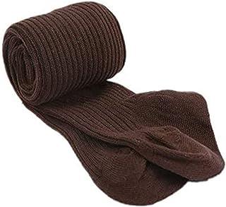 Collant da Neonata Bambina Calzamaglie Leggings Invernali in Cotone Morbido Caldo Calze a Coste Elastiche in Tinta Unita