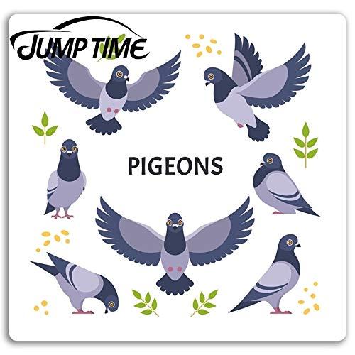 RSZHHL Car sticker Pigeons Vinyl Stickers Pigeon Bird Dove Sticker Laptop Luggage Car Assessoires Window Decals Car Wrap DIY