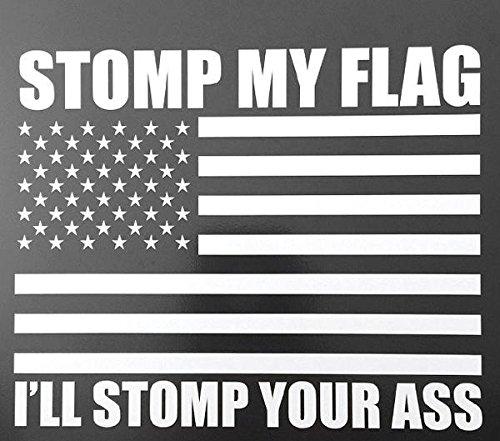 "STOMP MY FLAG VEHICLE DECAL VINYL STICKER (13"" X 18"")"