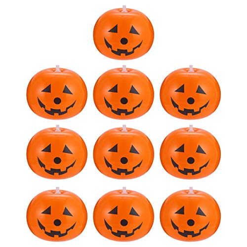 PRETYZOOM 10 Stück Halloween Party Luftballons Aufblasbare Halloween Luftballons Jumbo Kürbis Muster Laterne Luftballons Halloween Rasen Dekorationen für zu Hause Terrasse Hinterhof ohne