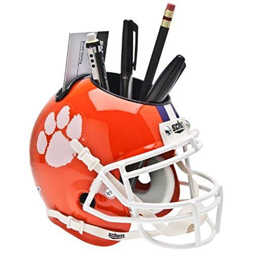 Clemson Tigers NCAA Schutt Mini Football Helmet Office Pen/Pencil/Business Card Holder