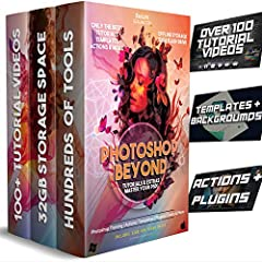 Learning Photoshop for Beginners 100+ Video Training Course: Quickly go from beginner to professional. Your 101 introduction to creating designs and photos in Adobe Photoshop with bonus advanced lessons. PSD Templates: You'll also have pre-made templ...