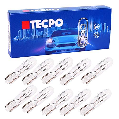TecPo 10x W1,2W 12V T5 W2x4.6d Glassockellampe Tachobeleuchtung Innenraumbeleuchtung
