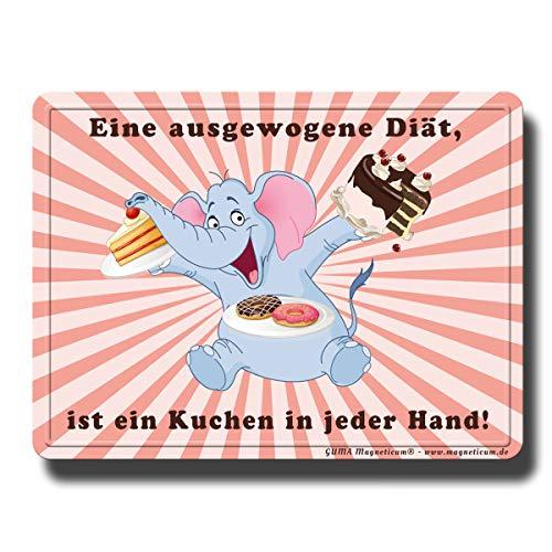 GUMA Magneticum 6122 koelkastmagneten spreuken cake olifantendieet humor grappig