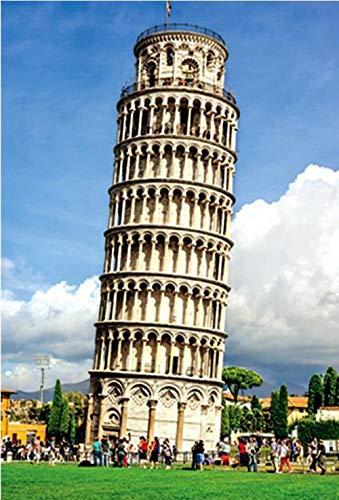 WUCHONGSHUAI DIY,Puzzle, Puzzle 1000-Teiliges Puzzle Kinderpult - Schiefer Turm Von Pisa Berühmtes Gebäude - Puzzle Reduzierter Druck Für Erwachsene Und Jugendliche