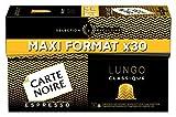 Carte Noire Capsules de café espresso, Lungo Classic, maxi format - La boîte de 30,...