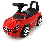 Gamme Rover Evoque Licence Ride on Push Along coulissante Jouet Sports Voiture de Course Tirer Trotteur Porteur Baby (Mercedes C0276-RED)