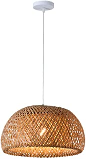 LIUJIE Colgante de Techo de bambú Mimbre de la lámpara de Sombras Pantalla de la Tela de iluminación Restaurante de la Cocina Comedor,380 * 200mm