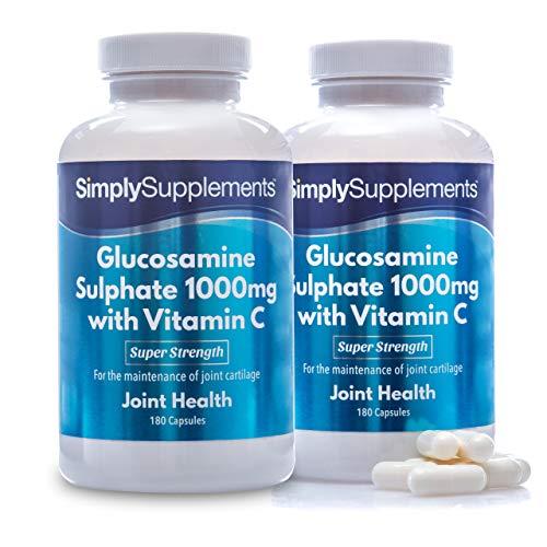 Glucosamina 1000mg con Vitamina C - ¡Bote para 1 año! - 360 Cápsulas - SimplySupplements