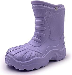 WBuffalo Children's Rubber Pure Color Rain Boots Rain Shoes