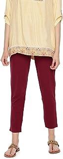 GO COLORS Women's Straight Fit Regular Pants