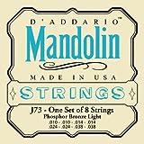 Best Mandolin Strings - D'Addario J73 Mandolin Strings, Phosphor Bronze, Light, 10-38 Review