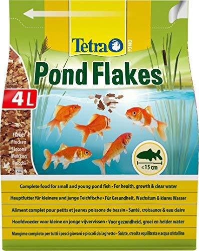 Tetra Pond Flakes 4 L Mangime per Pesci in Fiocchi, Ottimale per Pesci Giovani e di Piccole Dimensioni del Laghetto da Giardino