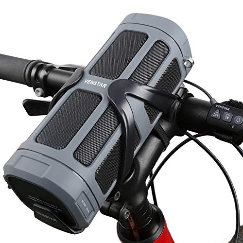 Venstar Haut-Parleur de vélo Bluetooth sans Fil HiFi Portable Rechargeable Enceintes Extérieur 16 W 6000 mAh Batterie Power Bank intégré Micro FM Haut-Parleur Sport avec Support pour vélo