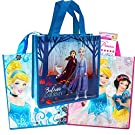 Disney Princess Tote Bags Value Pack -- 3 Large Reusable Tote Grocery Party Bags (Featuring Cinderella, Belle, Ariel and More)