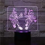 Wfmhra Starfox 3D Juego Lámpara de Mesa Sensor táctil USB 7 Figura de acción de Cambio de Color Fox Lámpara Decorativa Niño Niños Bebé Regalo Luz de Noche
