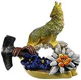 Magnet Wolf 7 x 7 cm Alpen Enzian Pflanze Blume Kühlschrankmagnet Figur Deko 2610 E