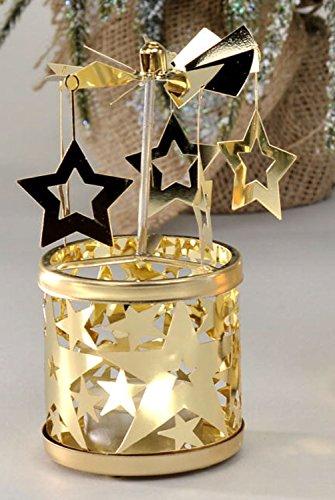 formano Bollweg Drehteelichtleuchter Leuchter Windlicht Gold Metall 650573 Dekoration Weihnachten Winter Stern