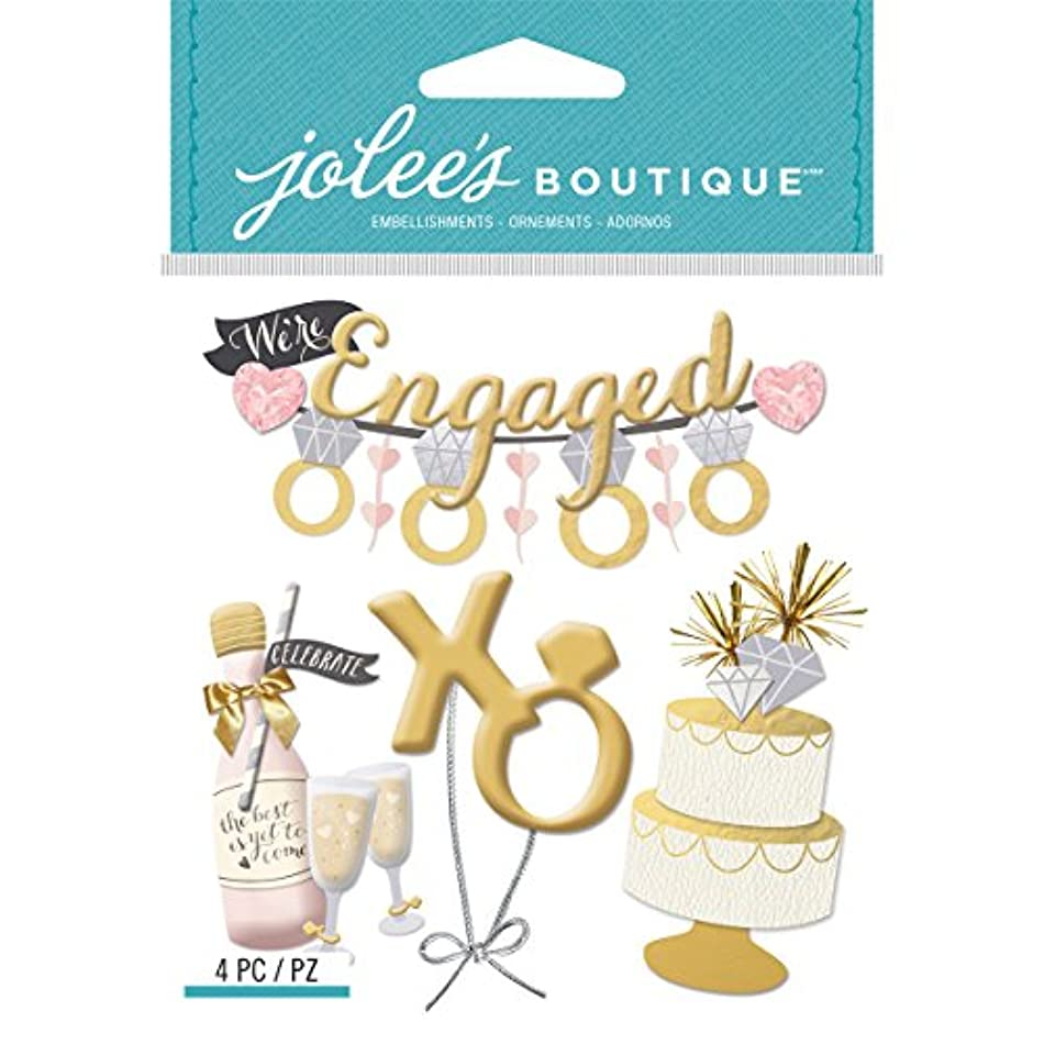 Jolees E5021963 Boutique Dimensional Stickers, Engagement Party v8974046399