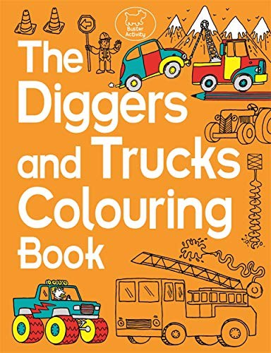 The Diggers and Trucks Colouring Book (Buster Activity)
