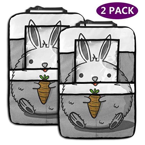Rücksitz Auto Organizer Fat Rabbits Carrot Doodle Draw 4 Aufbewahrungsfächer Rücksitz Organizer Autositz Organizer Reisezubehör (2 Pac
