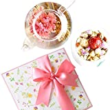 誕生日 花 ギフト プレゼント 工芸茶10種と美の八宝茶 花花セット 詰合せ 女性への贈り物 内祝い (誕生日カード付き)