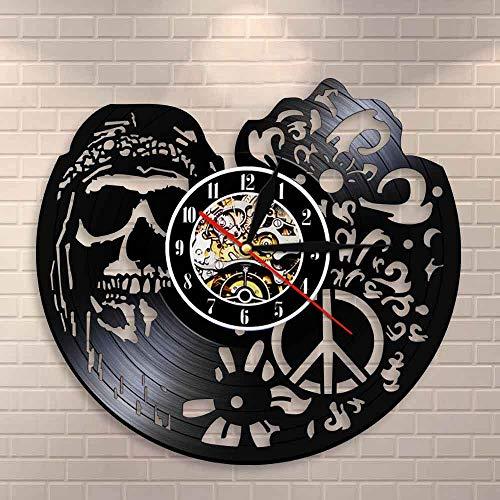 Tbqevc Reloj de Pared Estilo Reloj de Pared de Vinilo Reloj de Pared de Halloween Sala de Estar decoración para Colgar en la Pared 12 Pulgadas