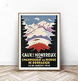Wandschild aus Holz, Montreux-Poster, Montreux,