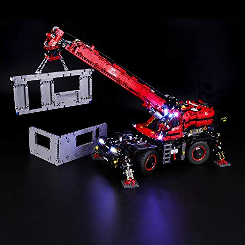 BRIKSMAX Kit di Illuminazione a LED per Lego Technic Grande Gru Mobile, Compatibile con Il Modello Lego 42082 Mattoncini da Costruzioni - Non Include Il Set Lego