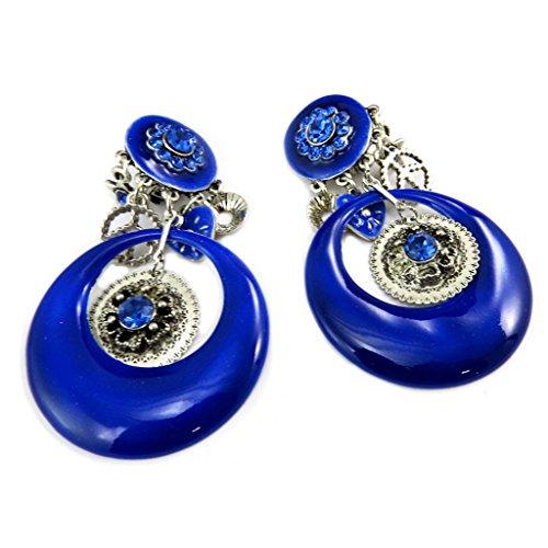 Les Trésors De Lily [P7429] - Clips créateur 'Lilipoupettes' bleu argenté - 65x40 mm