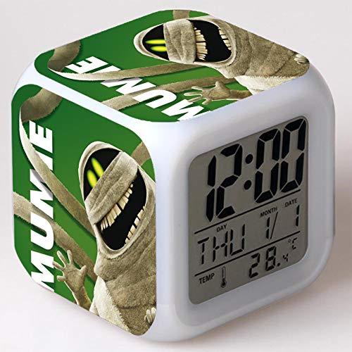 Wizard Hostel Alarm Clocks Kids LED Clock Cartoon Night Light Flash 7 Color Changing Digital Clock Electronic Desk Clock,Style 44, Birthday